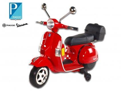 Elektrický skútr Piaggio Vespa PX150, lakovaná,červená