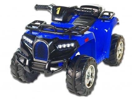 Elektrická čtyřkolka Buga pro malé děti, 1x motor 6V, USB, LED osvětlení, modrá