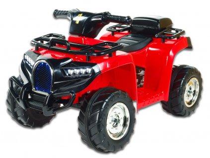 Elektrická čtyřkolka Buga pro malé děti, 1x motor 6V, USB, LED osvětlení, červená