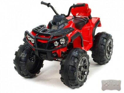 Čtyřkolka Predator s 2,4G, čalouněná sedačka, EVA kola, červená