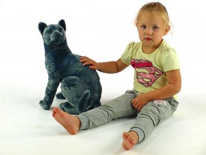 Plyšová sedící kočka Micka ruská, výška 45 cm
