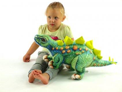 Plyšový dinosaurus Stegosaurus, délka 66cm, výška 33cm