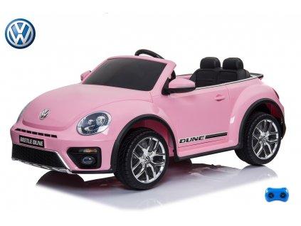 Volkswagen Beetle Dune cabrio s 2,4G, růžový