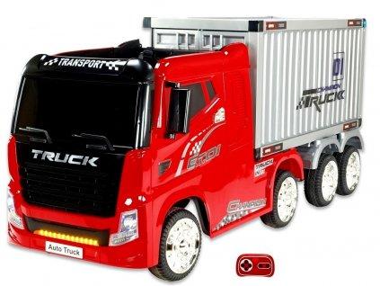 Kamion s návěsem červený 0