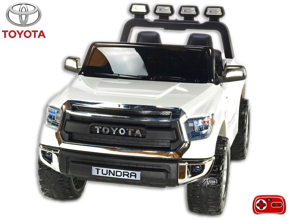 Toyota Tundra 12V s 2.4G DO, střední velikost, dvoumístná, bílá