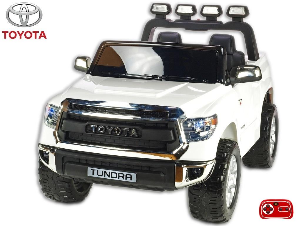 Toyota Tundra 12V s 2.4G DO, střední velikost, dvoumístná čalouněná sedačka, 2x45W, EVA kola, otvírací dveře, USB, TF, Mp3, LED