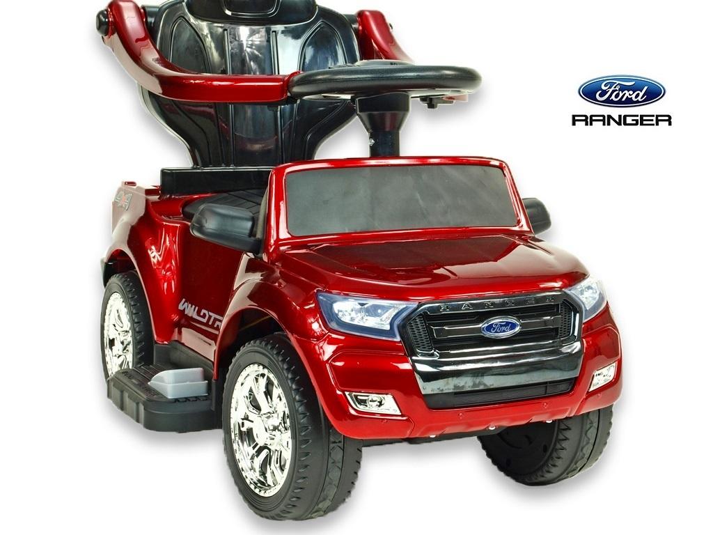 Ford Ranger s vodící tyčí, stříškou a madly, pro nejmenší, vínová metalíza