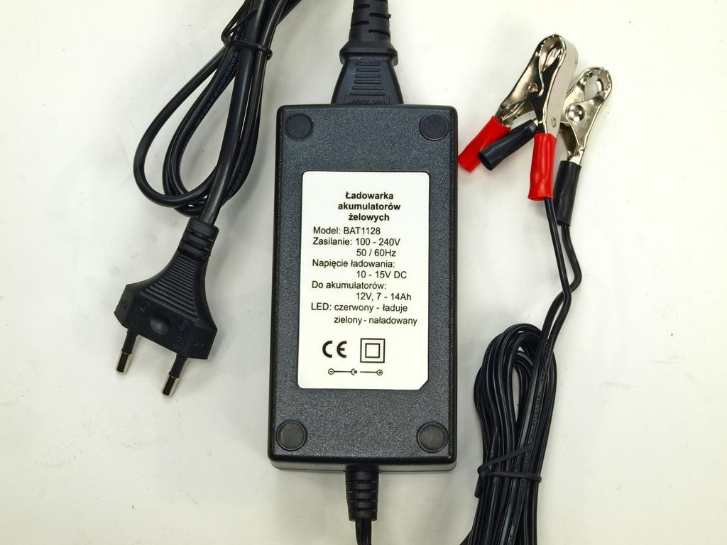 Nabíječka všech typů 12V baterií (kapacity 7 až 14Ah) s LED ukazatelem nabité baterie,  ideální pro dětská vozítka,