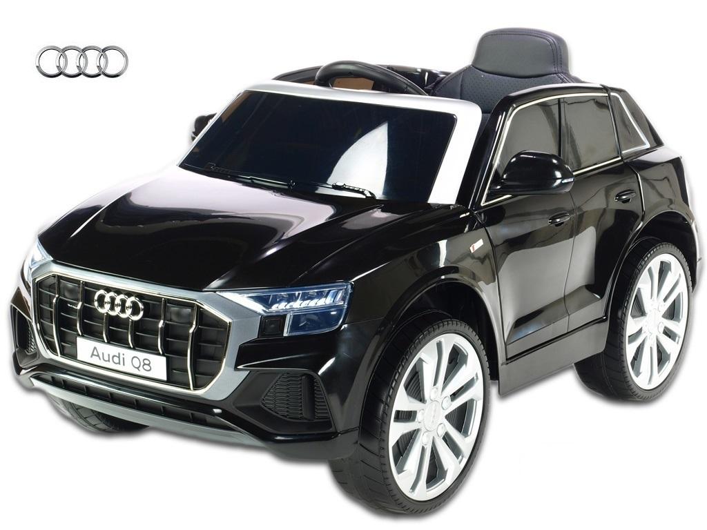 Elektrické auto Audi Q8 s 2,4G DO, USB, TF, voltmetrem, LED osvětlením, čalouněnou sedačkou, EVA koly, odpružením, motory 12V /