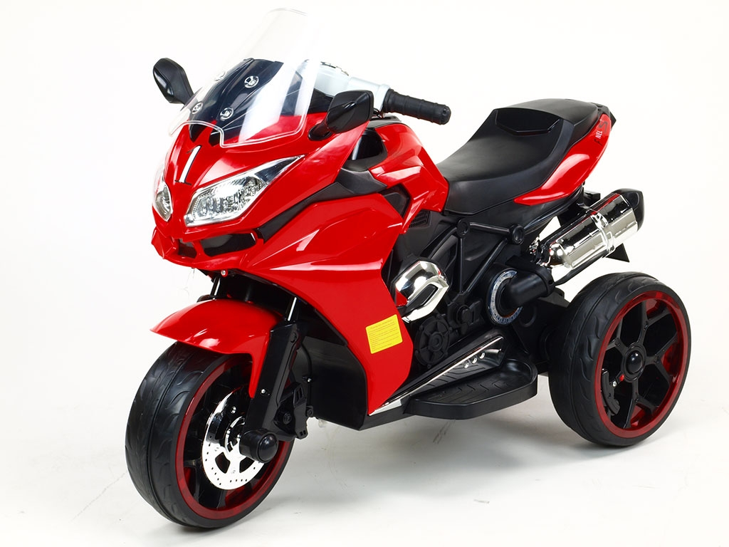Elektrická motorka Tricykl Dragon s osvětlenými koly, motory 2x6V, pérování nápravy, digiplayer USB, Mp3, voltmetr, LED osvětle