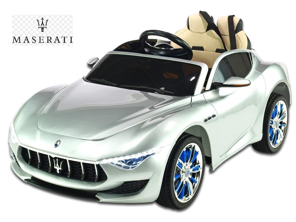 Elektrické auto Maserati Alfieri s 2,4G DO, otvíracími dveřmi, kapotami, stavitelným volantem, pérováním, USB, SD, Mp3 playerem