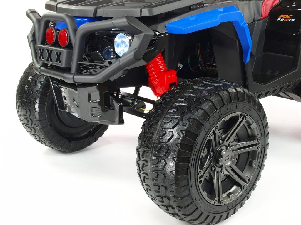 Elektrická čtyřkolka Maverick 4x4, modrá