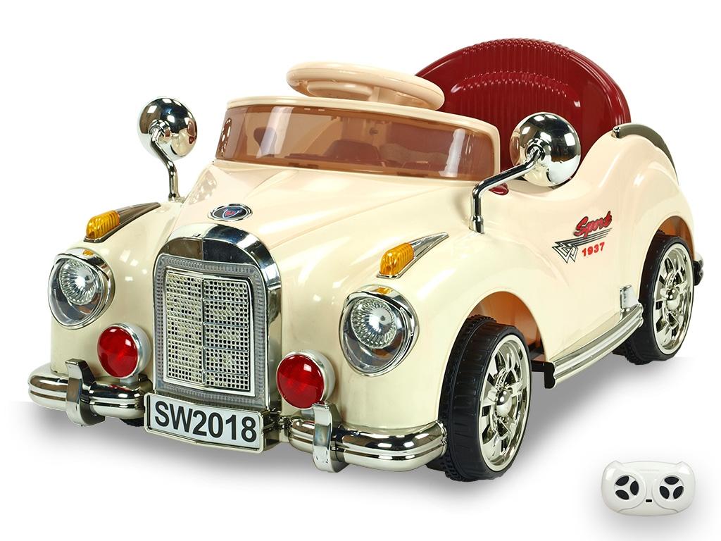 Elektrické autíčko Kuba Retro mini, béžové