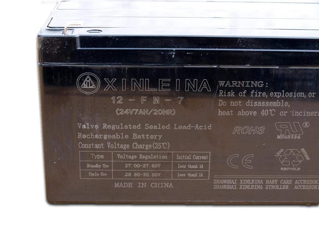 Olověná nabíjecí baterie 24V - 7Ah/ 20HR, dlouhá
