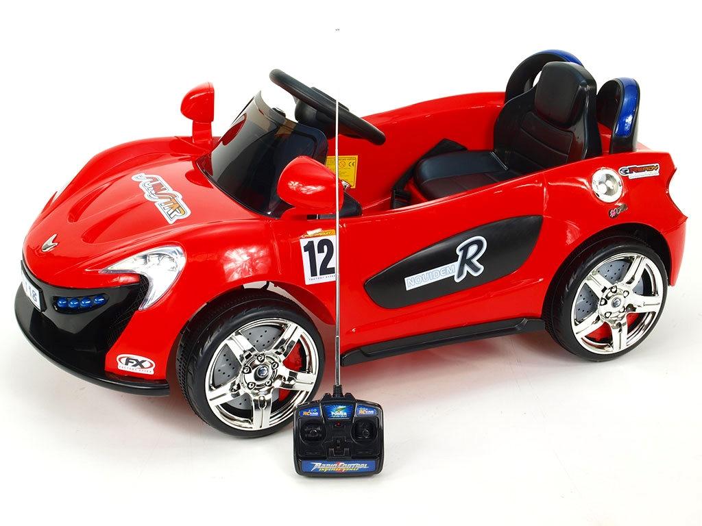 Elektrické autíčko Nikeautíčko s DO, červené