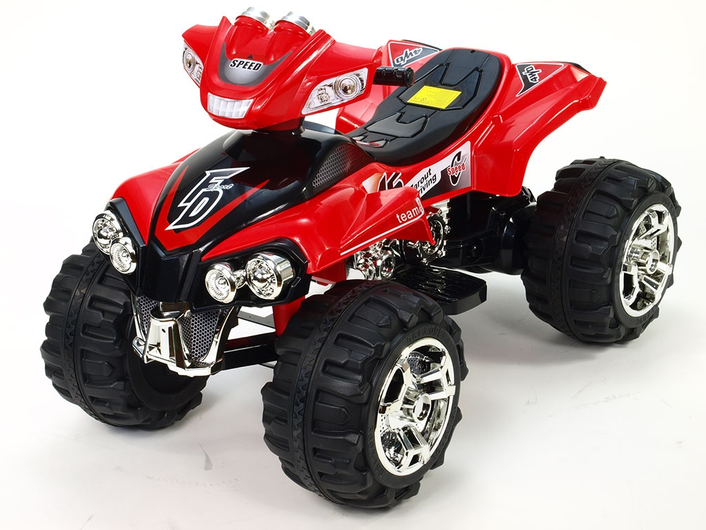 Elektrická čtyřkolka FD Sport s FM rádiem, Mp3, na velikých kolech, červená