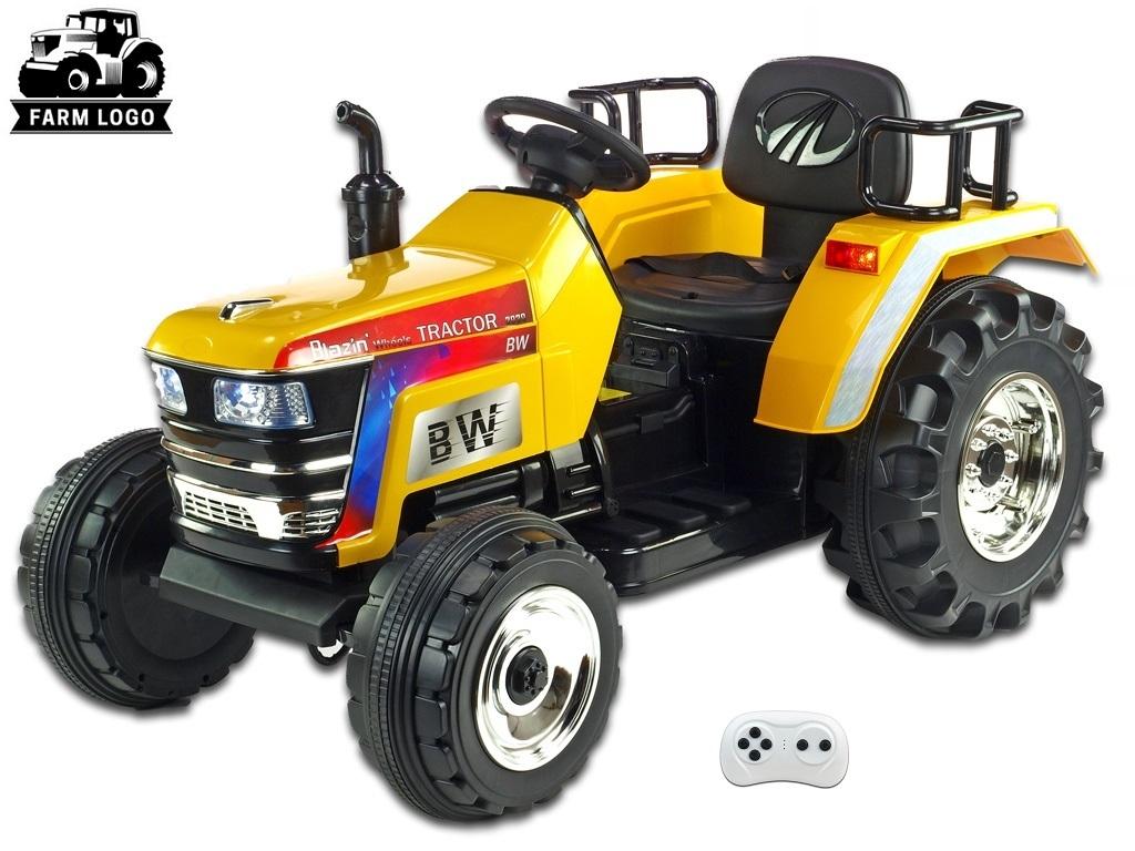 Big Farm s 2,4G, největší traktor, žlutý