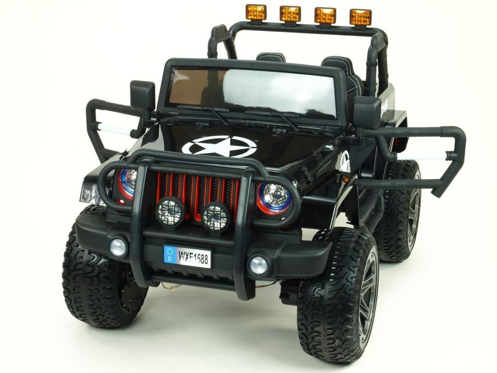 Elektrický džíp wrangler 4x4, černý