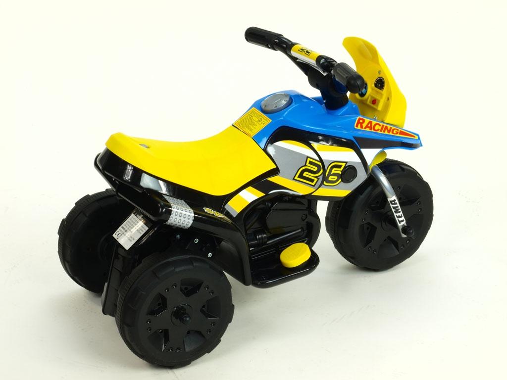 Elektrická motorka Racing sport 6V, s 2 světly a muzikou, pro nejmenší, modrá