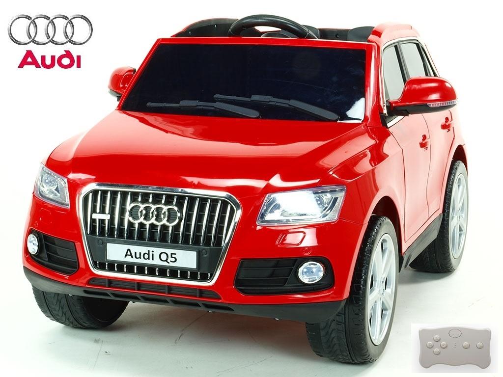 Elektrické SUV Audi Q5 TFSI quattro s 2.4G DO, otvíracími dveřmi, USB, TF, Mp3, LED osvětlení, pérováním, červená