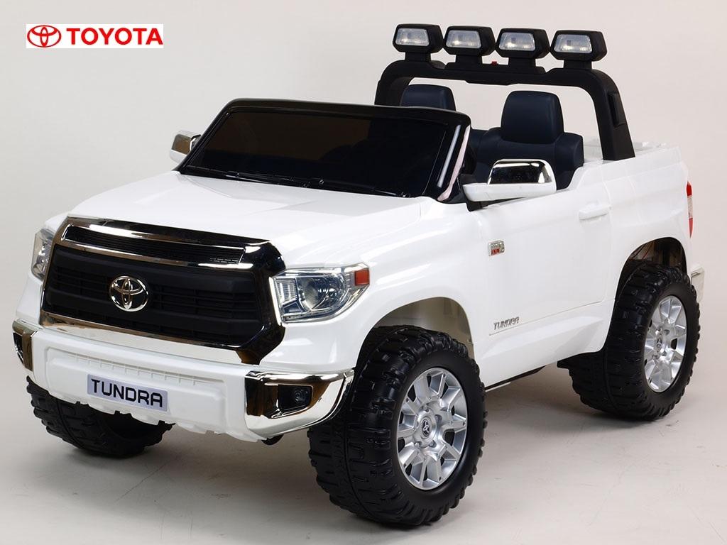Toyota Tundra 24V s 2.4G DO, největší elektrické auto, dvoumístná čalouněná sedačka, 2x200W, EVA kola, otvírací dveře, USB, TF,