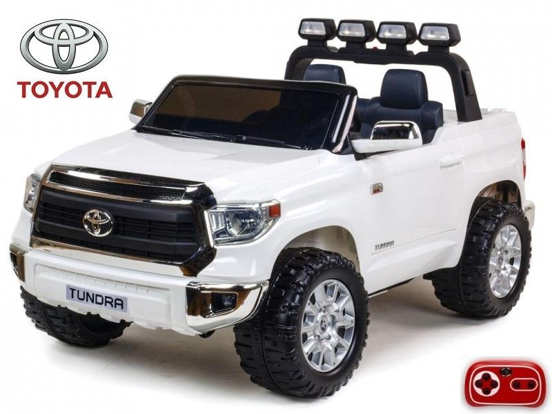 Toyota Tundra 24V s 2.4G, dvoumístná, největší elektrické auto, bílá