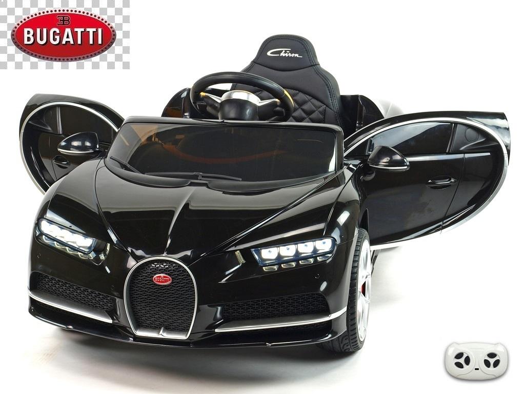 Elektrické auto Bugatti Chiron s 2.4G DO, otvíracími dveřmi, EVA koly, USB, LED osvětlení, luxusní sporťák, černý