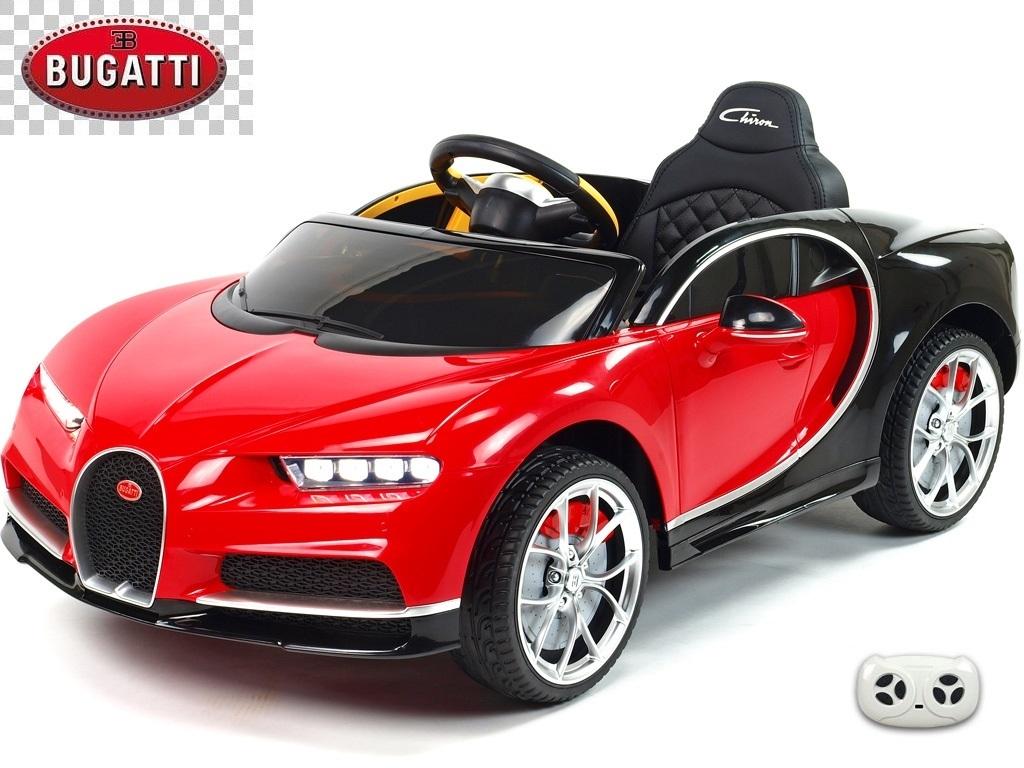 Elektrické auto Bugatti Chiron s 2.4G DO, otvíracími dveřmi, EVA koly, USB, LED osvětlení, luxusní sporťák, červeno-černý