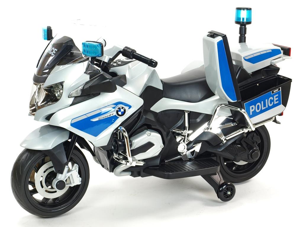 Motorka policie BMW R 1200RT, verze policie Německa, stříbrná