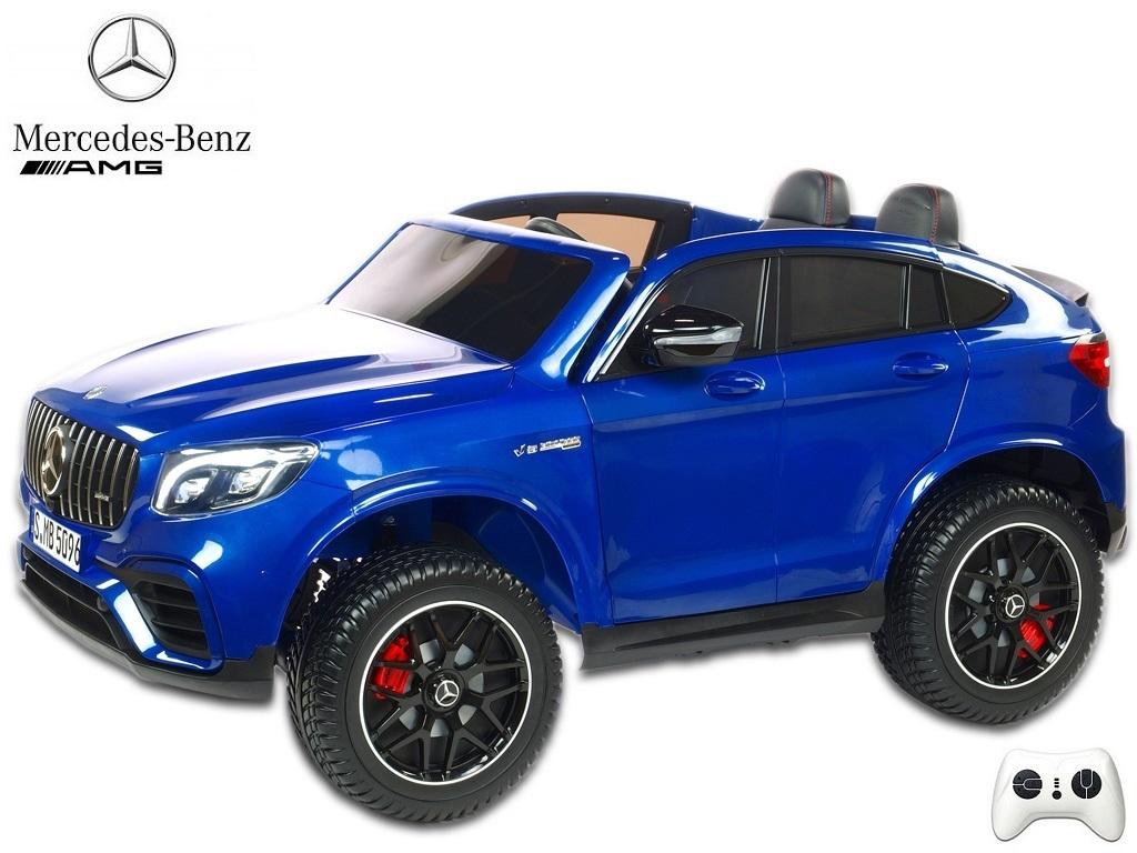 Mercedes GLC 63S AMG 4x4 s 2,4G, dvoumístný, modrý