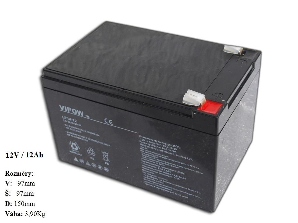 Gelová nabíjecí baterie 12V - 12Ah/ 20HR,