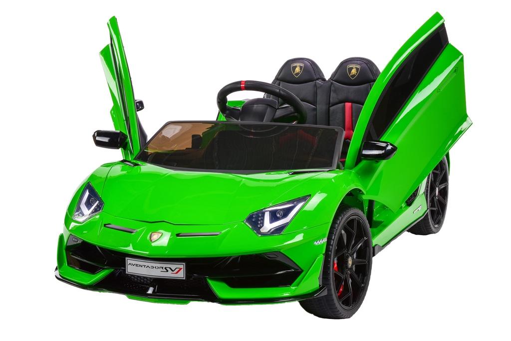 Lamborghini Aventador s 2.4G, lakované zelené