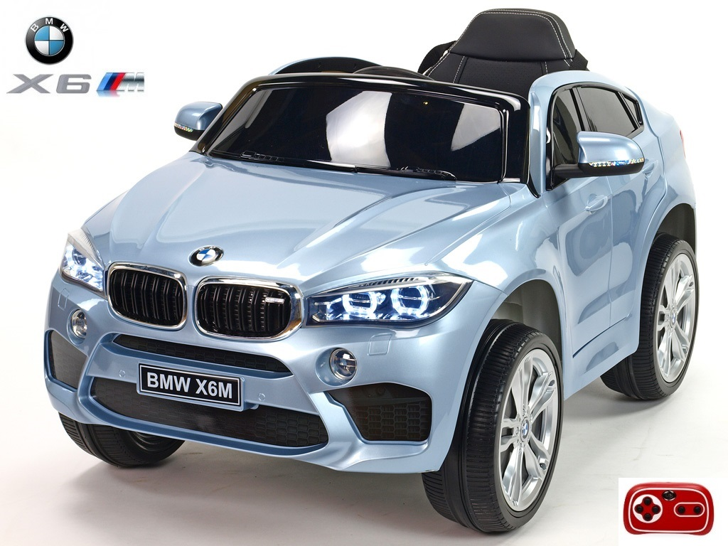 BMW X6M s 2,4G, jednomístné, stříbrnošedá metalíza