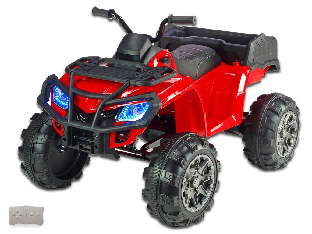 Čtyřkolka Predator XXL s 2,4G, výklopná korba, červená