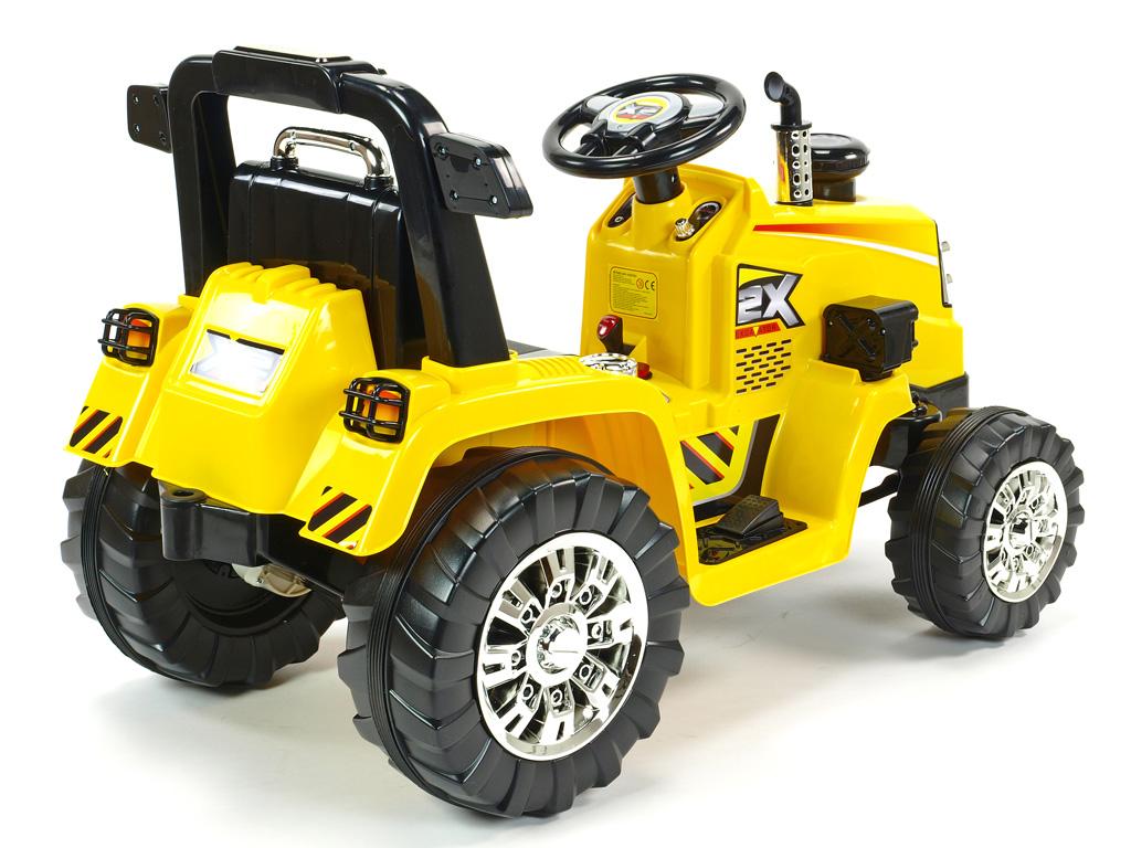 Elektrický traktor 12V s 2.4G DO, žlutý