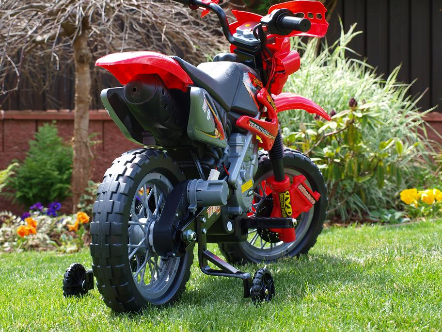 Elektrická motorka Crosska 6V, jako opravdová závodní, červená