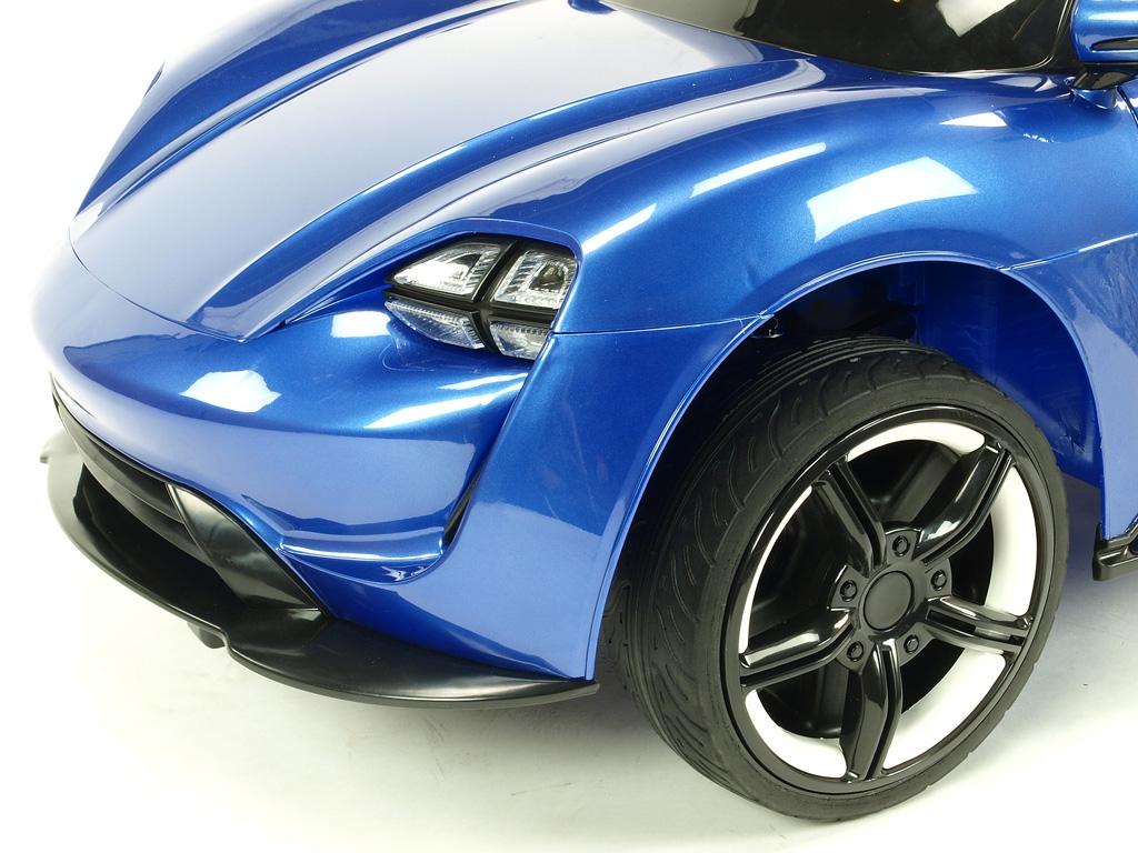 Elektrické auto sporťák Neon s 2.4G, USB, EVA koly, lakovaný modrý