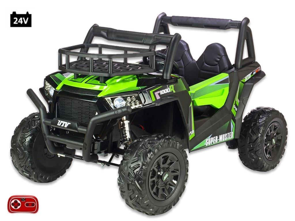 Bugina Super Muster 1000R s 2,4G, dvoumístná, 24V/2x200W, zelená