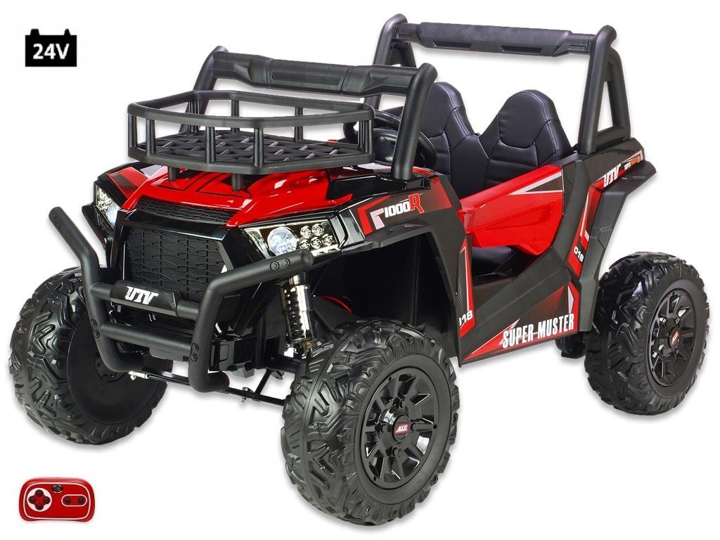 Bugina Super Muster 1000R s 2,4G, dvoumístná, 24V/2x200W, červená