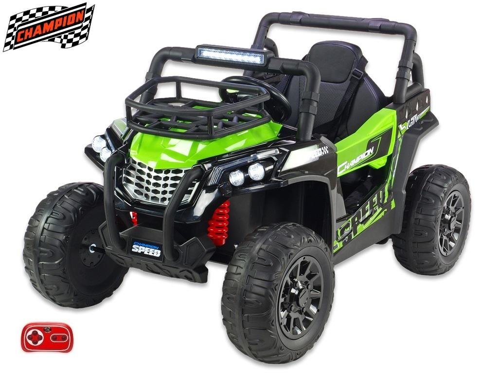Bugina Champion speed s 2,4G, jednomístná, 12V/2x120W, zelená