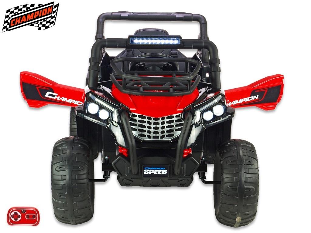 Bugina Champion speed s 2,4G, jednomístná, 12V/2x120W, červená
