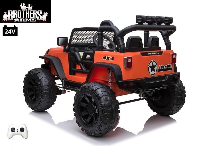 džíp Brothers s 2,4G, 24V/2x200W, oranžový