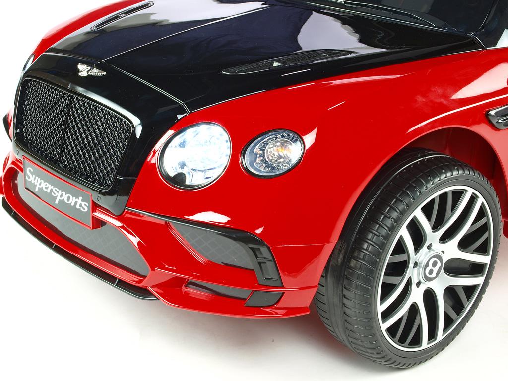Bentley Continental Supersports s 2.4G, lakované červené, černé kapoty