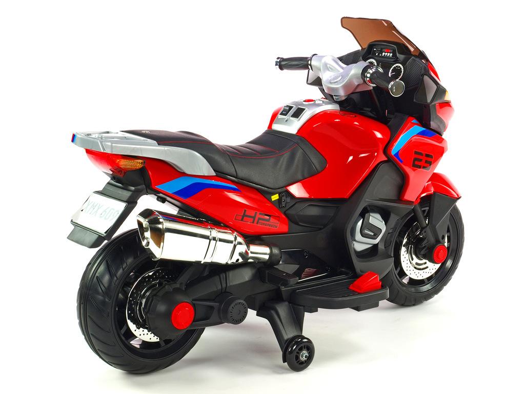 Cestovní motorka Topspeed s plynovou rukojetí a nožní brzdou, červená
