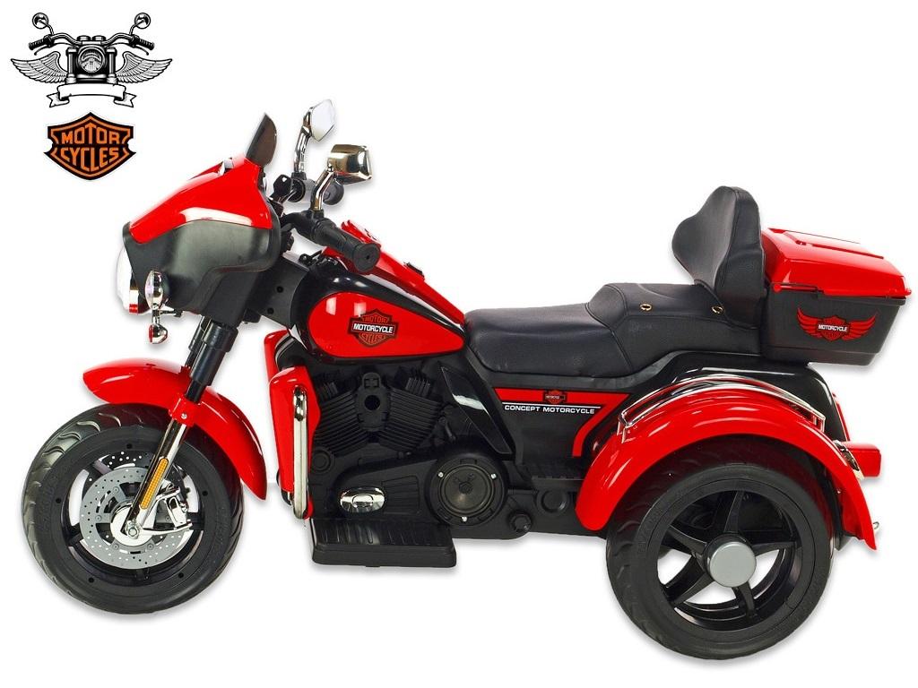 Motorka Big chopper Motorcycle, červený