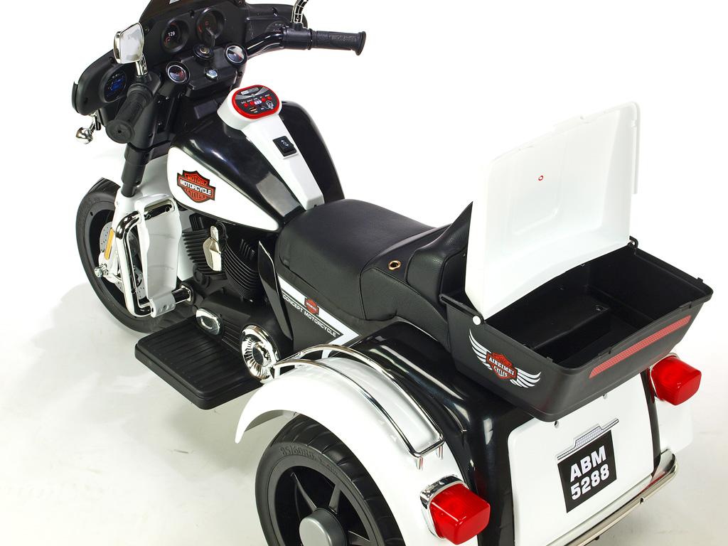 Motorka Big chopper Motorcycle, bílý