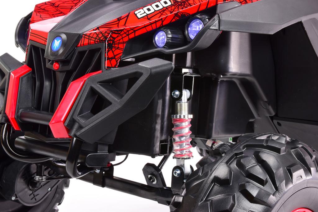 Bugina Xmen 4x4 s 2.4G, dvoumístná, polymer potah Spider červená