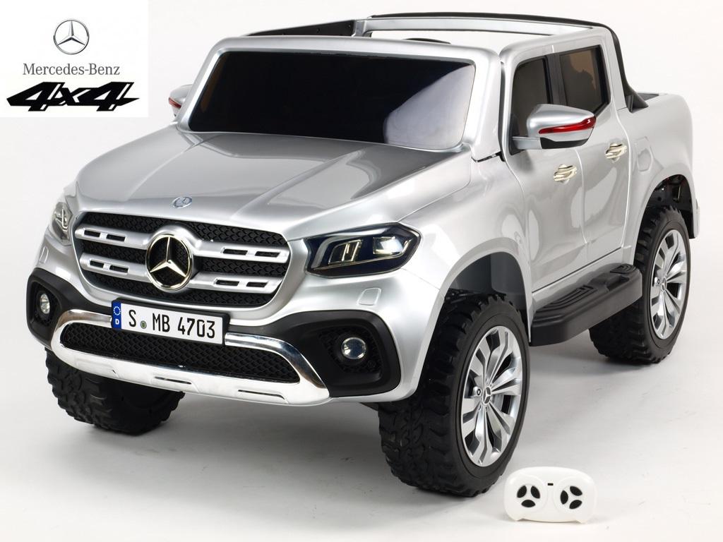 Mercedes – Benz X-Class 4x4 s 2,4G, dvoumístný, stříbrná metalíza