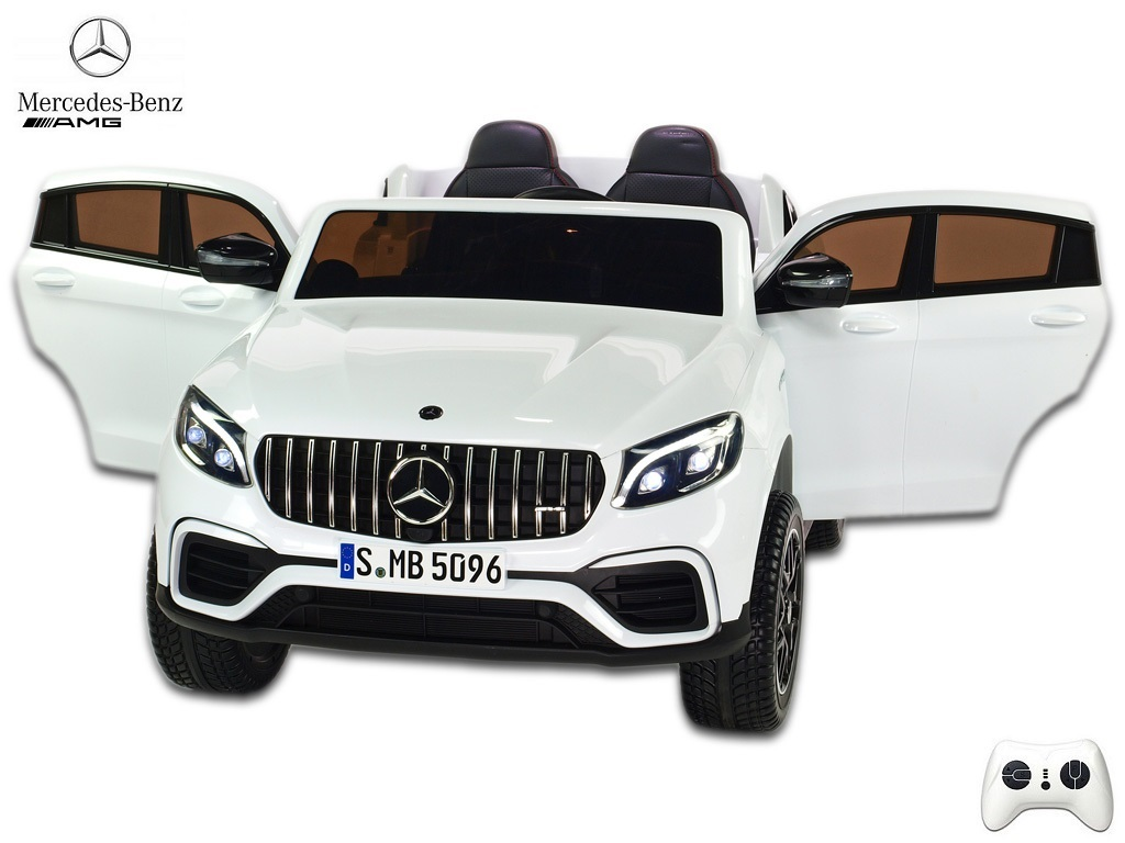 Mercedes GLC 63S AMG 4x4 s 2,4G, dvoumístný, bílý
