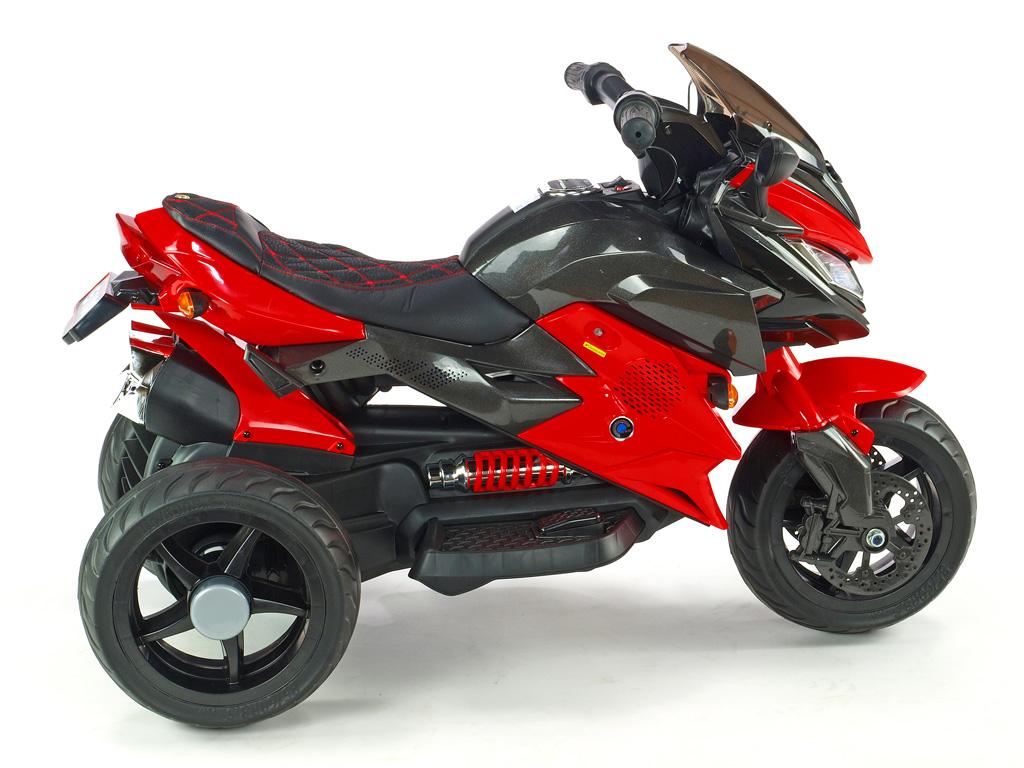 Cestovní motorka BNM s plynovou rukojetí a nožní brzdou, červená